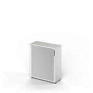 Armoire à rideaux TETRIS WOOD, 3 HC, l. 1000 mm, avec patins, gris clair