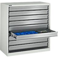 Armoire à tiroirs gris clair, 1055 x 1055 x 520 mm