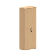 Armoire NEVADA, 6 HC, portes en bois, l. 800 x P 420 x H 2220 mm, décor hêtre