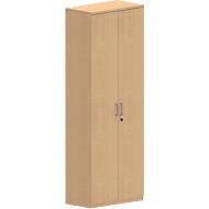 Armoire NEVADA, 6 HC, portes en bois, l. 800 x P 445 x H 2220 mm, décor hêtre