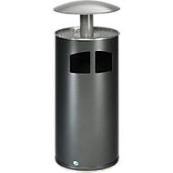 Asbak/afvalverzamelaar antiekzilver/dak zilver