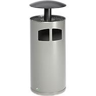 Asbak-/afvalverzamelaar zilver/antiekzilver