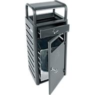 Ascher-Abfallbehälter für innen und außen, 880 x 330 x 280 mm