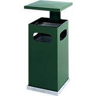 Ascher-Papierkorb mit abnehmbarem Dach, 72 Liter, grün