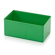 Assortimentsdoos inzetbak, voor rasterafmeting 2 x 3, rechthoekig, groen