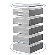 ATLANTA voetstuk en afdekplaat, voor ladebox, lichtgrijs/lichtgrijs