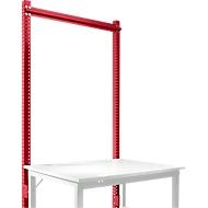 Aufbauportal, Grundtisch STANDARD Arbeitstisch-/Werkbanksystem UNIVERSAL/PROFI, 1250 mm, rubinrot