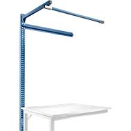 Aufbauportal m. Ausleger, Ansatztisch SPEZIAL Arbeitstisch/Werkbank UNIVERSAL/PROFI, 1250 mm, brillantblau
