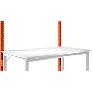 Aufbauportal, niedrig, Grundtisch SPEZIAL Arbeitstisch/Werkbank UNIVERSAL/PROFI, rotorange