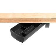 Aufbewahrungsbox Unterbau-Schwenkschale SWING, drehbar, schwarz
