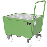 Auffangwanne Typ AW-F1, fahrbar, grün RAL6011