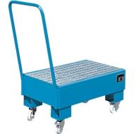 Auffangwanne, Typ AW60-1 SR, fahrbar, blau RAL5012