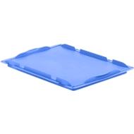 Auflagedeckel D43 für Kasten im EURO-Maß LTB/ELB, 400 x 300 mm, blau