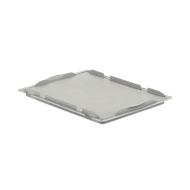 Auflagedeckel D43 für Kasten im EURO-Maß LTB/ELB, 400 x 300 mm, grau