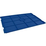Auflagedeckel RL-KLT-D 65 PP, f. Kleinladungsträger R/RL-KLT, B 600 x T 400 mm, blau