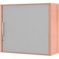 Aufsatz-Rollladenschrank BARI, 4 Böden, Mitteltrennwand, Schloss, H 1057 mm, Buche-Dekor