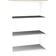 Aufsatzregal SOLUS, 3 OH, H 1080 x  B 800 x T 420 mm, weiß/Kirsche-Roman
