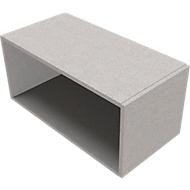 Aufsatzregal SOLUS PLAY, f. Container m. Auszug SOLUS PLAY, Höhe 368 mm, Ceramic grey