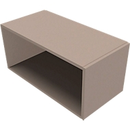 Aufsatzregal SOLUS PLAY, f. Container m. Auszug SOLUS PLAY, Höhe 368 mm, Stone grey