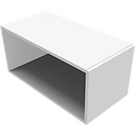 Aufsatzregal SOLUS PLAY, f. Container m. Auszug SOLUS PLAY, Höhe 368 mm, weiß