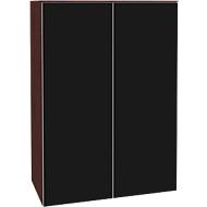 Aufsatzschrank SOLUS, Acrylglastüren, schwarzglänzend, 3 OH, H 1080 x B 800 x T 440 mm,