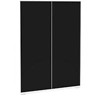 Aufsatzschrank SOLUS, Acrylglastüren, schwarzglänzend, 3 OH, H 1123 x B 800 x T 440 mm, weiß