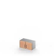 Aufsatzschrank TETRIS SOLID, Stahlkorpus, 1 OH, B 800 mm, Buche-Dekor/weißalu