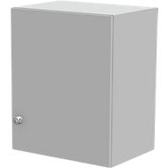 Aufsatzschrank TETRIS WALL, 2 Ordnerhöhen, Türanschlag rechts, B 600 x T 440 x H 740 mm, lichtgrau