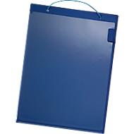 Auftragstaschen, Klettverschluss, DIN A4, blau