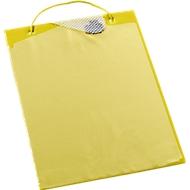 Auftragstaschen, Klettverschluss und Aufbewahrungsfach, DIN A4, gelb
