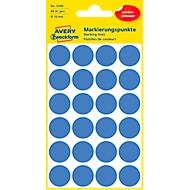 Avery markeringspunten 3595, verwijderbaar, 96 st., Ø 18 mm, blauw