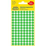 Avery Markierungspunkte 3592, wiederablösbar, 416 Stück, Ø 8 mm, grün