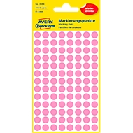 Avery Markierungspunkte 3594, wiederablösbar, 416 Stück, Ø 8 mm, pink