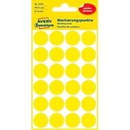 Avery Markierungspunkte 3595, wiederablösbar, 96 Stück, Ø 18 mm, gelb