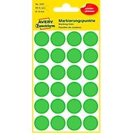 Avery Markierungspunkte 3595, wiederablösbar, 96 Stück, Ø 18 mm, grün