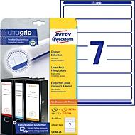 AVERY Printbare rugetiketten 'Block Out ft 19,2 x 3,8 cm, doos van 25 blad, 175 stuks, wit