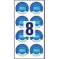 Avery Prüfplakette Nächster Termin 6932, wetterfest, 80 Stück, Ø 30 mm, blau