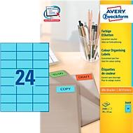 Avery Zweckform Etiketten 3449, 70 x 37 mm, 2400 Stück, blau
