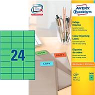 Avery Zweckform etiketten 3450, 70 x 37 mm, 2400 stuks, groen