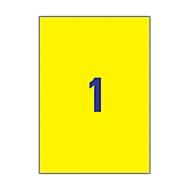 Avery Zweckform® étiquettes en polyester, ultra résistantes L1111,210 x 294 mm, jaune, paquet de 20 feuilles