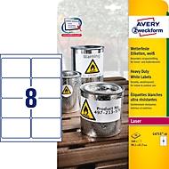 Avery Zweckform folie-etiketten, weerbestendig, voor binnen- en buitengebruik, 99,1 x 67,7 mm