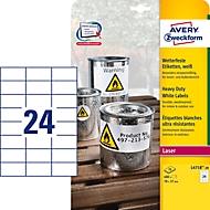 Avery Zweckform Folien-Etiketten, wetterfest, für Innen- und Außenbereich, 70 x 37 mm