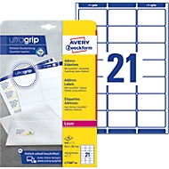 Avery Zweckform L7160-40 Adress-Etiketten, ultragrip, 63,5 x 38 mm