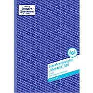 AVERY® Zweckform Lohnabrechnung für geringfügig Beschäftigte Nr. 506