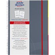 AVERY ZWECKFORM Notizbuch Notizio 7015,  PP, 90 Blatt, DIN A5, kariert, grau