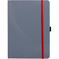 AVERY ZWECKFORM Notizbuch Notizio, Softcover, 80 Blatt, DIN A5, kariert, grau