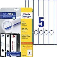 AVERY® Zweckform Ordner-Etiketten, ultragrip, 125 + 25 Stück