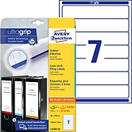 AVERY® Zweckform Ordner-Etiketten, ultragrip, 175 + 35 Stück