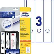 AVERY® Zweckform Ordner-Etiketten, ultragrip, 75 + 15 Stück