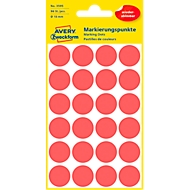 AVERY Zweckform Points de marquage, Ø 18 mm, 96 points, repositionnables, rouge